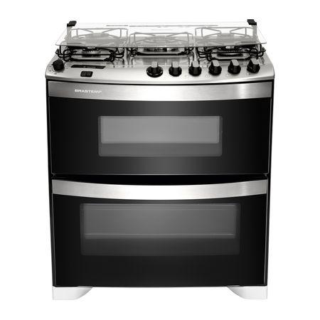 Fogão Brastemp 5 bocas duplo forno Branco com quadrichama, timer digital e mesa...