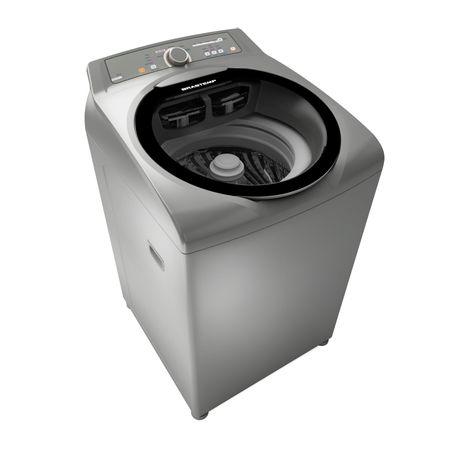 Máquina de Lavar Brastemp 11kg cor Inox com sistema Fast Cycle e função Extra...