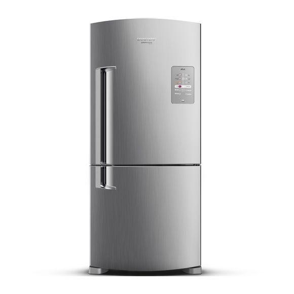 Geladeira Brastemp Frost Free Inverse 573 litros cor Inox com Smart Bar