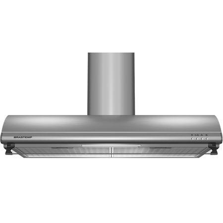 Depurador de Ar Brastemp 80 cm Inox 5 e 6 bocas com duto estético e duplo filtro