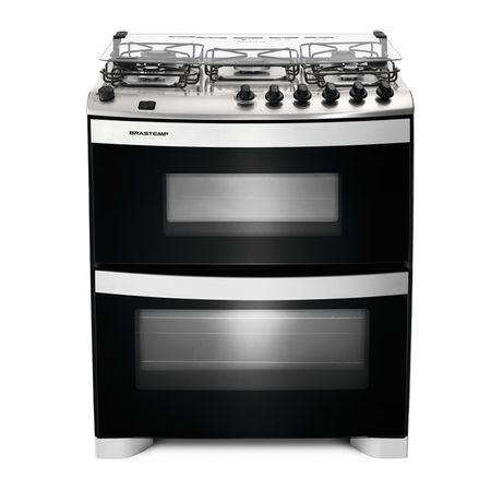 Fogão Brastemp 5 bocas duplo forno Branco com acendimento automático e mesa...