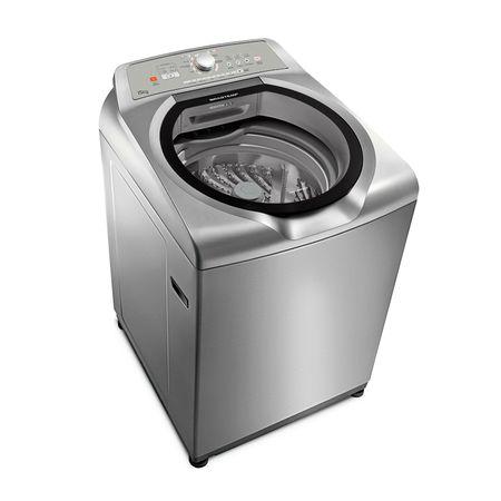 Máquina de Lavar Brastemp 15kg cor Inox com Ciclo Edredom Especial e Enxágue...
