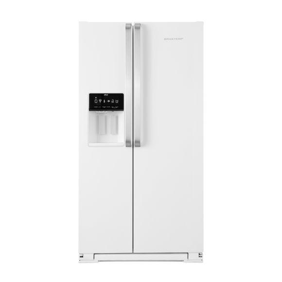 Geladeira Brastemp Frost Free Side by Side 560 litros Branca com Dispenser de Água e Gelo - BRS62CB