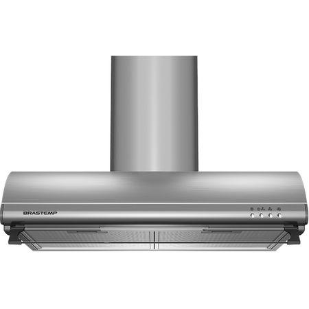 Depurador de Ar Brastemp 60 cm Inox 4 bocas com duto estético e duplo filtro