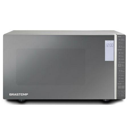 Micro-ondas Brastemp 32 Litros cor Inox Espelhado com Grill e Painel Integrado