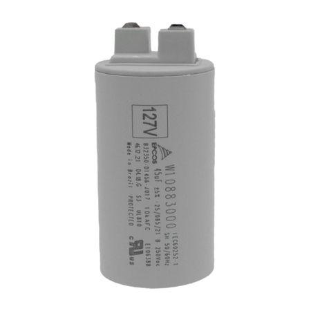 Capacitor 45uF para Máquina de Lavar - W10883000