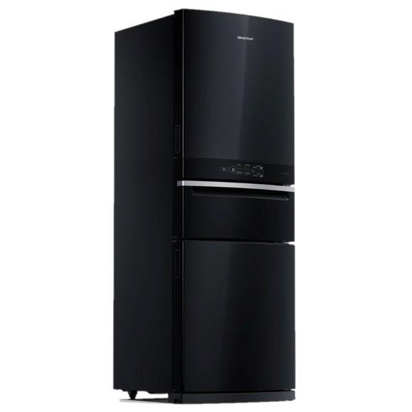 Geladeira Brastemp Inverse 3 Frost Free 419 litros cor Preta com Freeze Control Pro - BRY59BE